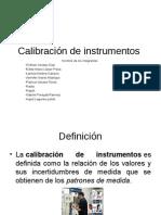 Calibración de instrumentos