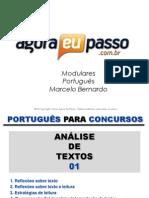 AEP2011 - Portugua¦Çs para Concursos (G&T) - AULA 01_4 - AnÔÇálise de Textos 1
