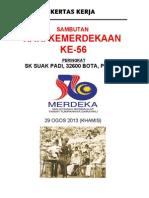 Kertas Kerja Hari Merdeka 2013 SK Suak Padi