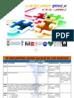 2.CRONOGRAMA 3º ENCUENTRO JOVEN ALCALÁ DE LOS GAZULES.