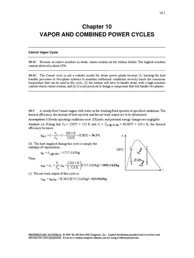 Chapter 10 Vapor And Combined Power Cycles Energy Technology Cycle Plant Ts Diagram Conversion