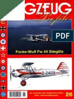 (Flugzeug Profile No.26) Focke-Wulf Fw 44 Stieglitz