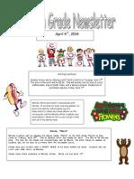 fourth grade newsletter 4-4