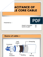 Capacitence of Single Core Cable