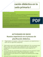 La Planificación didáctica en la escuela primaria I