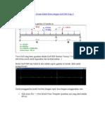 Contoh Perhitungan Dan Desain Balok Beton Dengan SAP2000