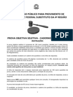 XV Caderno Questoes Prova Seletiva