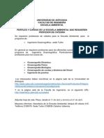 Convocatoria Docentes Cátedra Escuela Ambiental 2014-01 Ingeniería Oceanografica