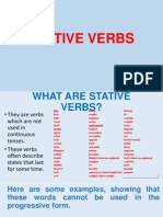 Stative Verbs Ppt