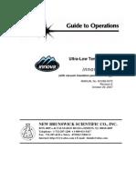 ultra low freezer (tower) Manual