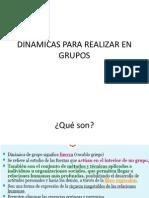 Dinamicas Para Hacer en Grupos