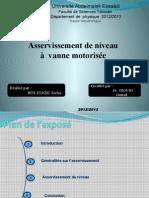 Asservissement de niveau -à  vanne motorisée_Bouzekri A