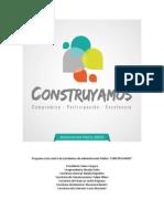"Programa Lista N°2 ""CONSTRUYAMOS"" CEAP 2014"