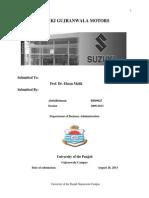 Internship Report on Suzuki Gujranwala motors