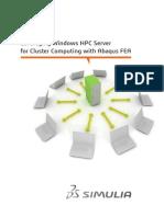 SIMULIA Cluster Computing AFEA