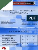 TAUTOLOGIA, CONTRADICCIÓN Y CONTINGENCIA