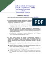 Org Comp 2014 1 Lista02 Subsistemasdememoria