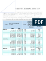 Impuesto Unico de Segunda Categoria Enero 2014