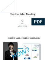 Effective Sales Meeting TFT