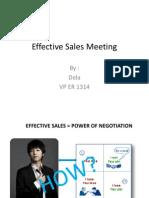 Effective Sales Meeting TFT