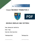 Folio Sejarah Tingkatan 2 SMK Victoria