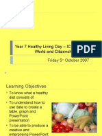 Year 7 Healthy Living Day – ICT Session