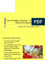 Year 9 Healthy Living Day – ICT Session
