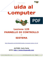 Guida al Computer - Lezione 125 - Pannello di Controllo - Sistema