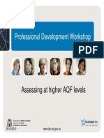 Assessing at Higher AQF Levels 2012
