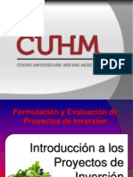 1. Introducción a Proyectos de Inversión