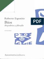 Esposito - Biopolitica y Filosofia