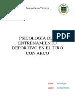 Psc 3. Psicologia Del Entrenamiento Deportivo