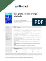 Grosses 1x1 Der Erfolgsstrategie Friedrich Od