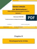 TD Analyse Maths Chapitre 3