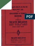 1954 =M= Singles Instruction Manual