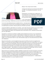 Texte dAlain Guiraudie - SPIAC CGT