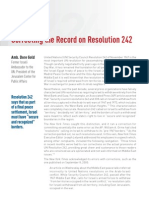 The Record on UN Resolution 242