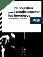 Bourdieu Passeron Los Herederos Los Estudiantes y La Cultura