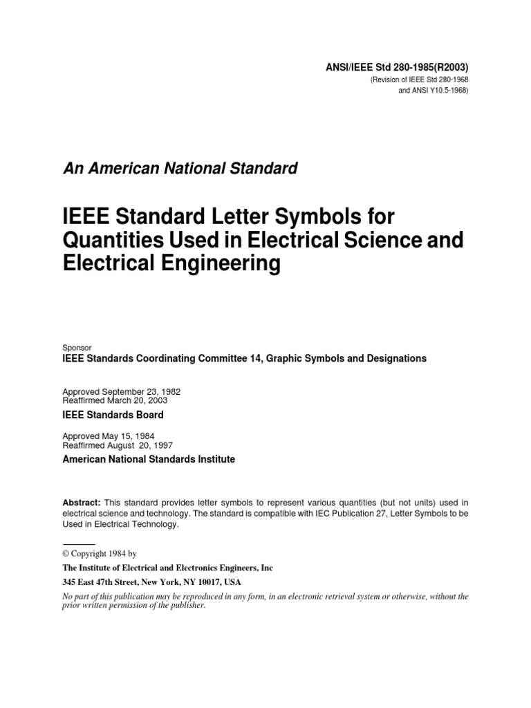 Ieee standard letter symbols for quantities used in electrical ieee standard letter symbols for quantities used in electrical science and electrical engineering permittivity temperature biocorpaavc