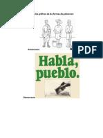 Ejemplos gráficos de las formas de gobierno