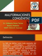Malformaciones Congénitas 2014