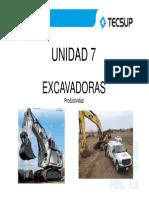 Excavadoras - Productividad