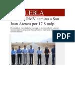 04-03-2014 Milenio.com - Inaugura RMV camino a San Juan Atenco por 17.8 mdp.