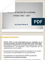 Interpretación de Ohsas 18001