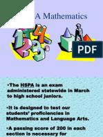 Hspa Mathematics