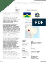 Rondônia – Wikipédia, a enciclopédia livre