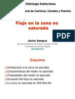 28 Octubre 2013 Hidrologia Subterrranea ICCP Zona No Saturada Presentacion de Clase 2013-2014