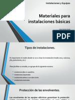 Materiales para instalaciones básicas