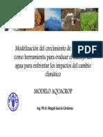 Aquacrop Manual