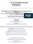 Psychopathy and Victim Selection